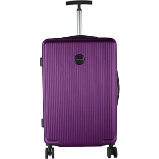 Murano Dark Purple ABS/Metal 20-inch Hardside Carry On Spinner Upright Suitcase