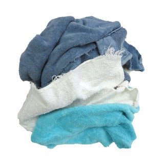Pro-Clean Basics 3 lbs. Assorted Colors Terry Cloth Remnants Cleaning Rags