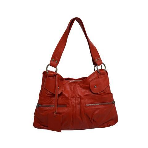 Handmade Donna Bella Designs Giavanni Leather Tote Bag