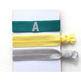 Be the Envy Boutique 3 Piece Initial Ponytail HairTies (More options available)