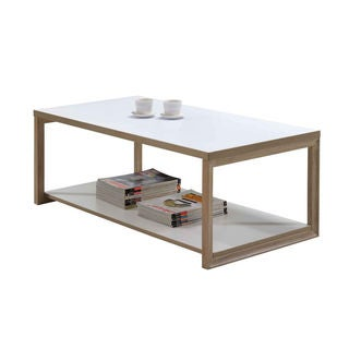 Intercon Studio Living White and Honey Cocktail Table
