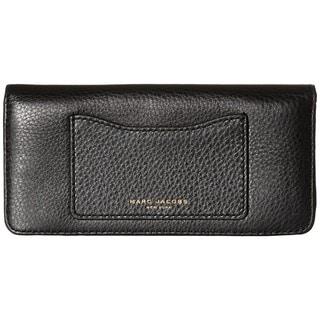 Marc Jacobs Recruit Black Leather Open-face Clutch Wallet