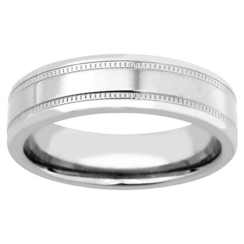 Men's Silver Titanium High-polish Band
