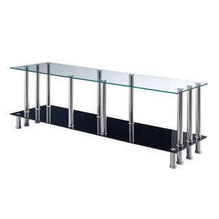 GLOBAL FURNITURE TV Stand Clear and Black