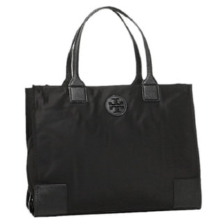 Tory Burch Ella Black Nylon Packable Tote Bag