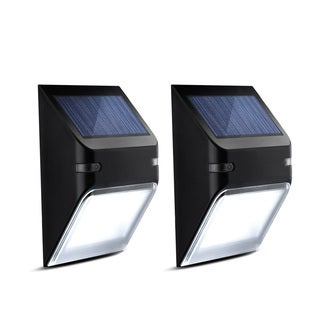 Solar-powered LED Energy-efficient Wall Lamp (Set of 2)