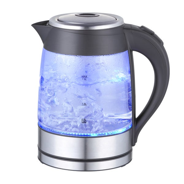 Mega Chef 1.8Lt. Glass and Stainless Steel Electric Tea Kettle