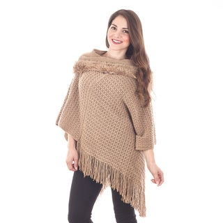 Faux Fur and Fringe Poncho