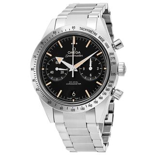 Omega Men's 331.10.42.51.01.002 'Speedmaster 57' Black Dial Stainless Steel Chronograph Swiss Automatic Watch