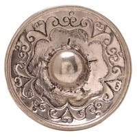 Mayan Series Women's Sombrero Patern Hammered Design No 21 Silver and Pewter Ring