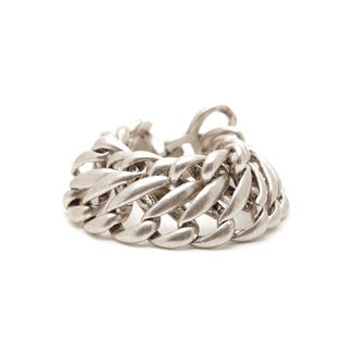 Mayan Series Solid Link Design No1 Silver/Pewter Bracelet