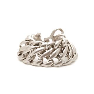 Mayan Series Solid Link Design No1 Silver/Pewter Bracelet