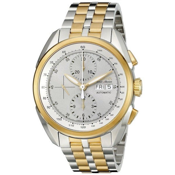 ca2037935d6 Shop Bulova Accu-Swiss Made Men s Stainless Steel Swiss Made Automatic  Chronograph Watch - Free Shipping Today - Overstock - 13003937