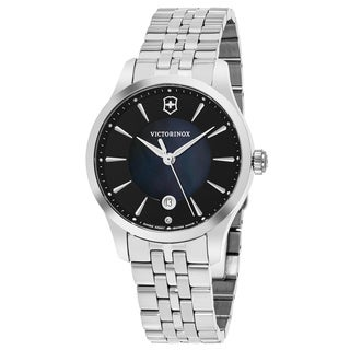 Swiss Army Women's V241751 'Alliance' Black Mother Pearl Dial Stainless Steel Swiss Quartz Watch