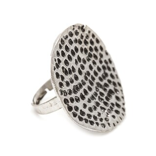 Mayan Series Pewter Silver Ring