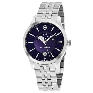 Swiss Army Women's V241752 'Alliance' Blue Mother of Pearl Dial Stainless Steel Moon Phase Swiss Quartz Watch