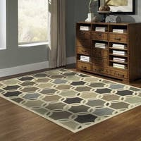 Clay Alder Home Buster Interlocking Ovals Ivory/ MultiColor Polypropylene Area Rug - 9'10 x 12'10