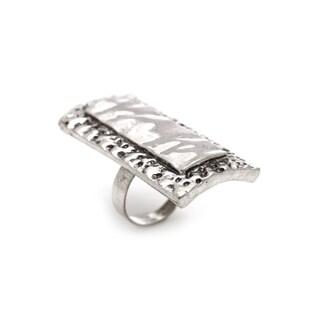 Mayan Series Pewter Silver Ring