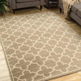 Style Haven Casual Trellis Brown/Tan Polypropylene Area Rug (9'10 x 12'10)