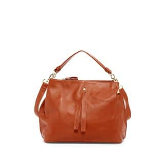 Pink Haley Arden Leather Hobo Handbag|https://ak1.ostkcdn.com/images/products/13003961/P19748195.jpg?impolicy=medium