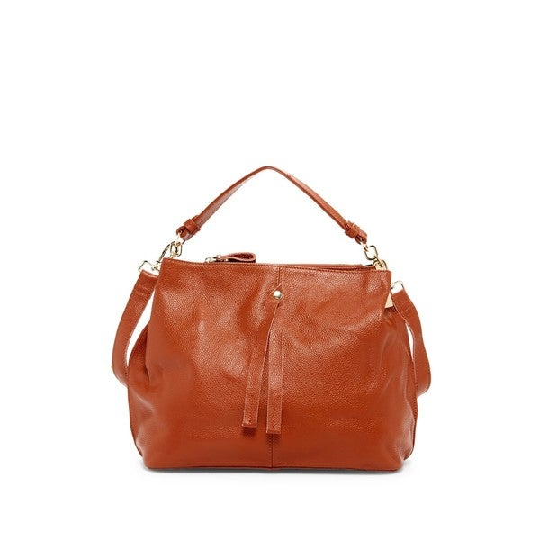 Pink Haley Arden Leather Hobo Handbag
