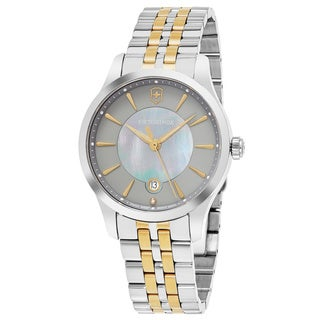 Swiss Army Women's V241753 'Alliance' Grey Mother of Pearl Dial Stainless Steel Swiss Quartz Watch