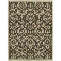 Clay Alder Home Black Hawk Traditional Floral Charcoal/ Ivory Polypropylene Area Rug - 9'10 x 12'10