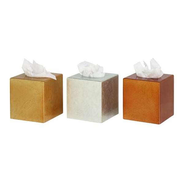 Assorted Charming Wood Tissue Box (Set of 3)