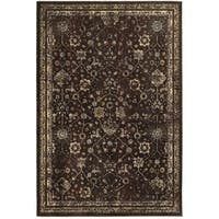 Style Haven Honored Traditions Brown/Ivory Polypropylene and Polyester Area Rug (9'10 x 12'10)
