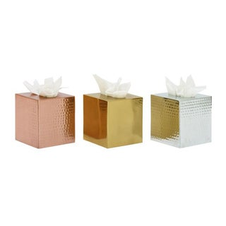 Chic Assorted Color Aluminum Tissue Holder (Set of 3)