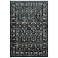 Style Haven Navy/Ivory Polypropylene Floral Borders Area Rug (9'10 x 12'10)