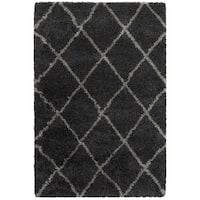 "Porch & Den Suncrest Charcoal Lattice Shag Area Rug - 7'10"" x 10'10"""