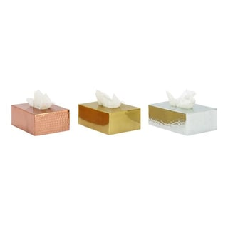 Assorted Classy Aluminum Tissue Holder (Set of 3)