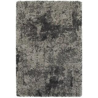 "Carbon Loft Desirae Granite Dark Grey and Charcoal Shag Rug - 9'10"" x 12'10"""