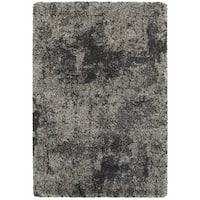 Granite Dark Grey/Charcoal Shag Rug - 7'10 x 10'10