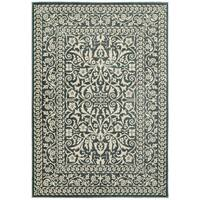 Style Haven Blue/Ivory Two-tone Floral Traditional Area Rug - 7'10 x 10'10
