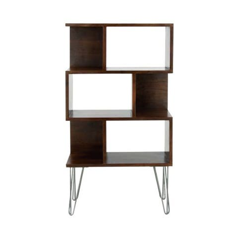 Studio 350 Wood Metal Book Shelf 32 inches wide, 61 inches high