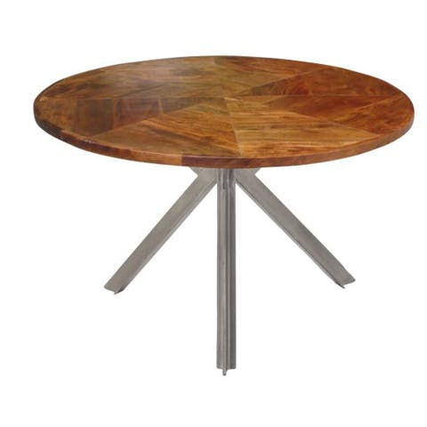 Studio 350 Metal Wood Coffee Table 36 inches D, 17 inches high