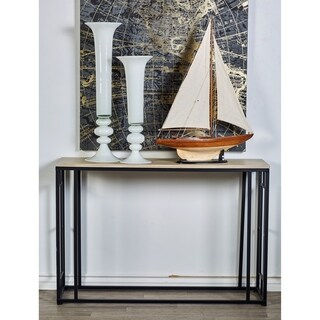Modern Metal and Wood Console Table