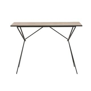 Benzara Metal and Wood Console Table