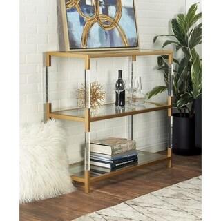 Chic Metal Acrylic Console Shelf