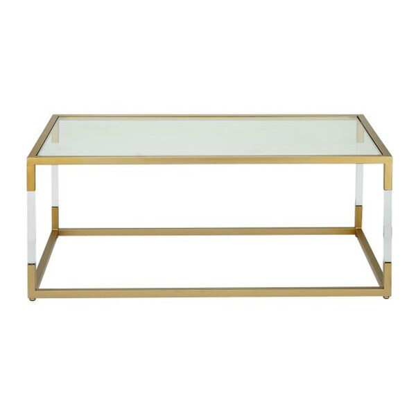 Adorable Metal Glass Acrylic Coffee Table