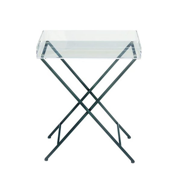Shop Studio 350 Metal Acrylic Tray Table 22 Inches Wide