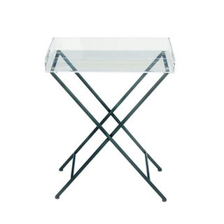 Classic Metal Acrylic Tray Table