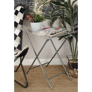 Studio 350 Metal Acrylic Tray Table 22 inches wide, 27 inches high