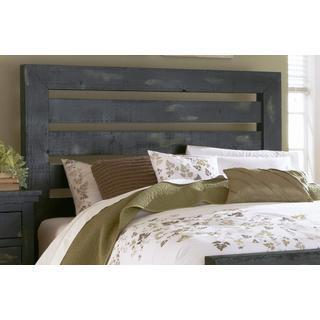 Willlow Pine Distressed Black Headboard