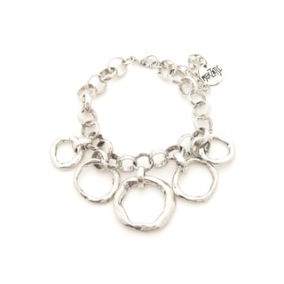 Mayan Series Silver and Pewter Solid Link Design No 1 Charm Bracelet