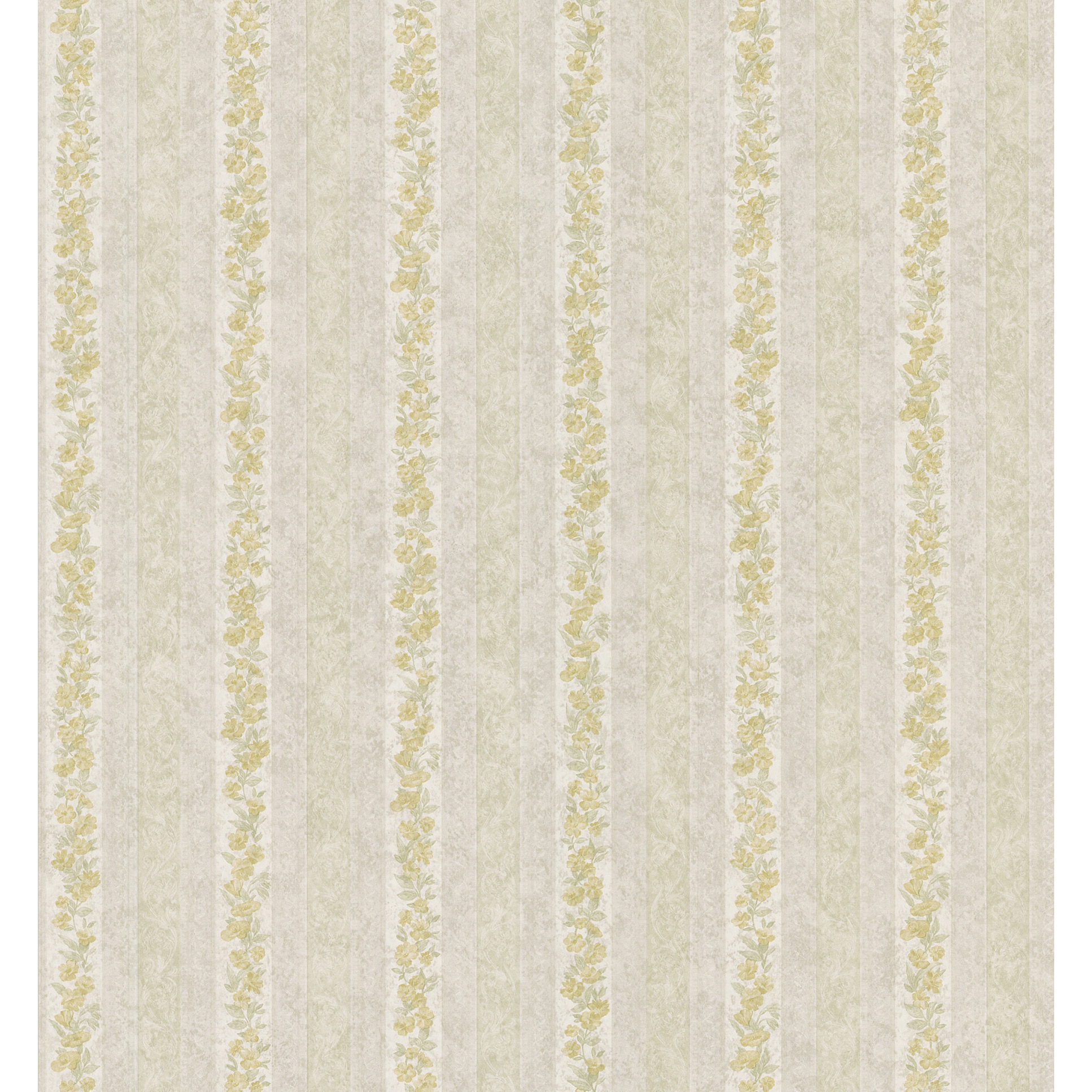 Shop Neutral Floral Stripe Border Wallpaper Free Shipping On
