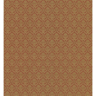 Brewster Rust Vinyl Small Damask Wallpaper