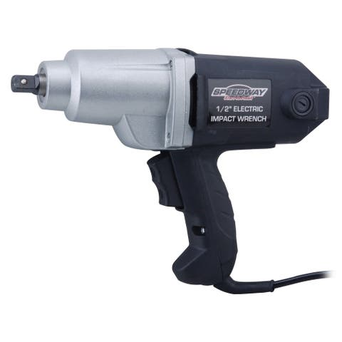 Speedway Black 1/2-inch Electric Impact Wrench